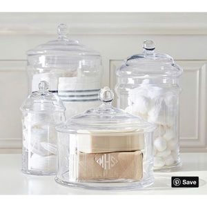 Pottery Barn Other - NEW! Pottery Barn Classic Glass Bath Canister M